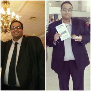 Raj has lost noticeable weight after just a few months of changing his diet. I am so proud of him!