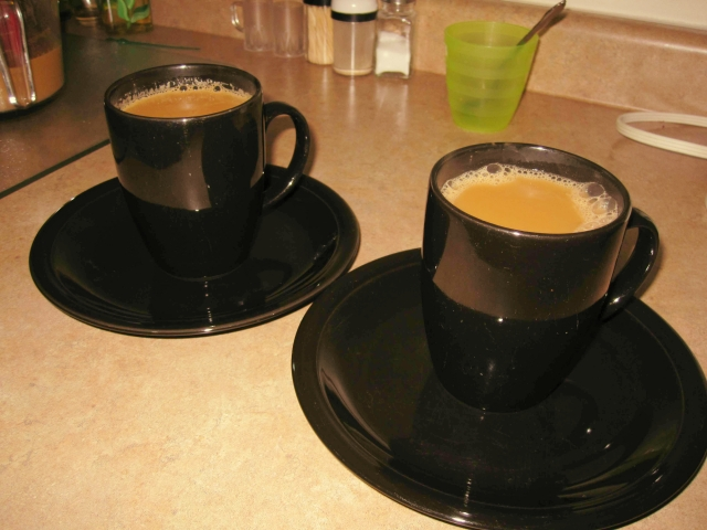 Pour the liquid into 2 cups. Serve and enjoy! Makes 2 servings.