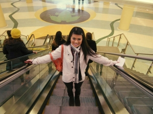 Me on Escalator to #NWSToronto
