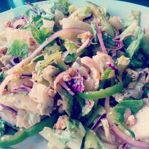 I smuggled some non-GMO tempeh and hemp hearts into a restaurant to add to their boring garden salad! Shhh...