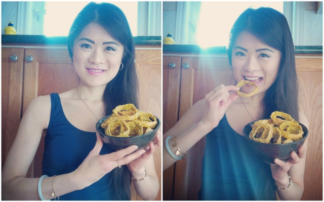 I prefer these healthy onion rings over the battered and deep-fried ones! These are NON-fried, nutritious, low-fat, high-fibre, high-protein, vegan, cancer-fighting, and best of all, super tasty!