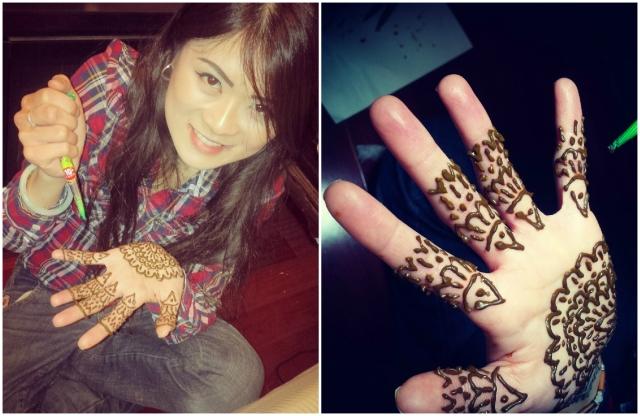 Drawing Henna