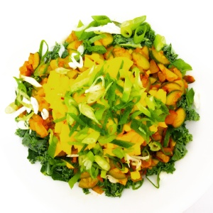 If you are a salad lover like me, this recipe serves one.