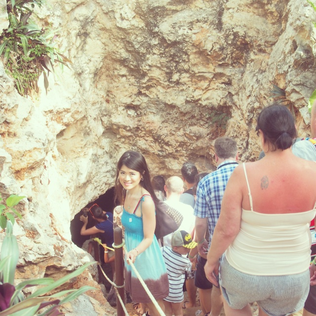 The steps leading down to this cenote were steep!